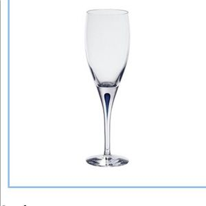 ORREFORS  INTERMEZZO BLUE WINE GLASSES